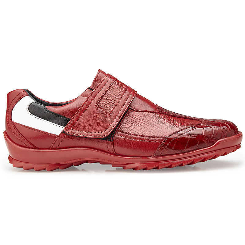 Belvedere Mikele Crocodile & Calf Sneakers Red Image