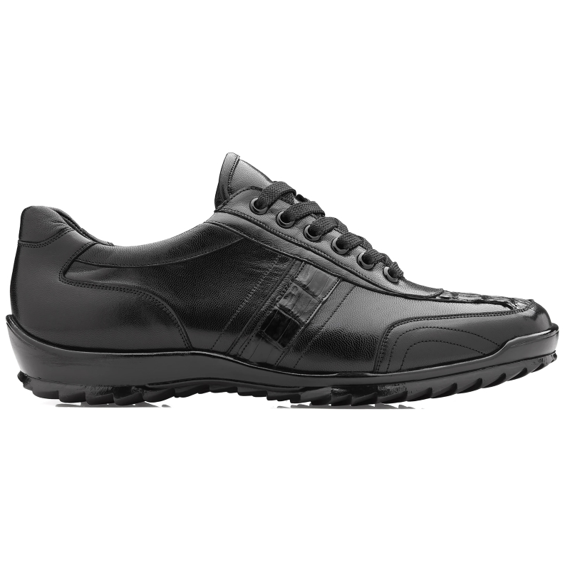 Belvedere Orfeo Caiman & Calf Sneakers Black Image