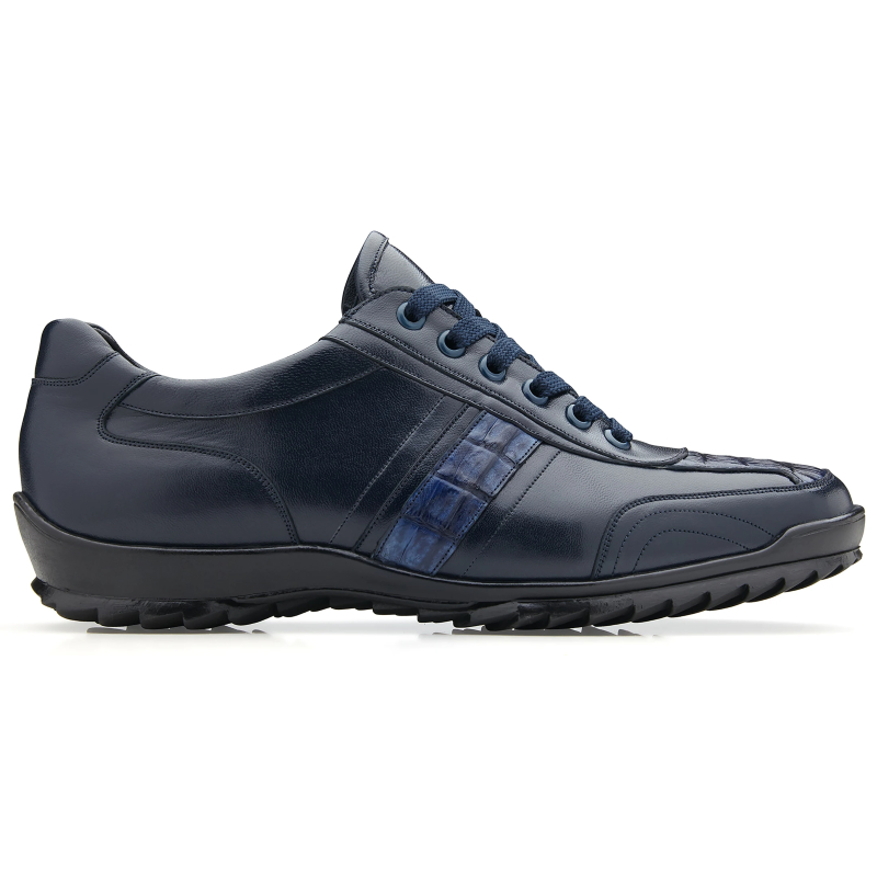 Belvedere Orfeo Caiman & Calf Sneakers Navy Image