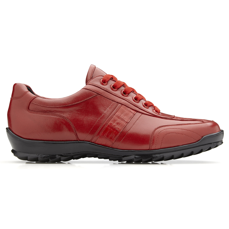 Belvedere Orfeo Caiman & Calf Sneakers Red Image