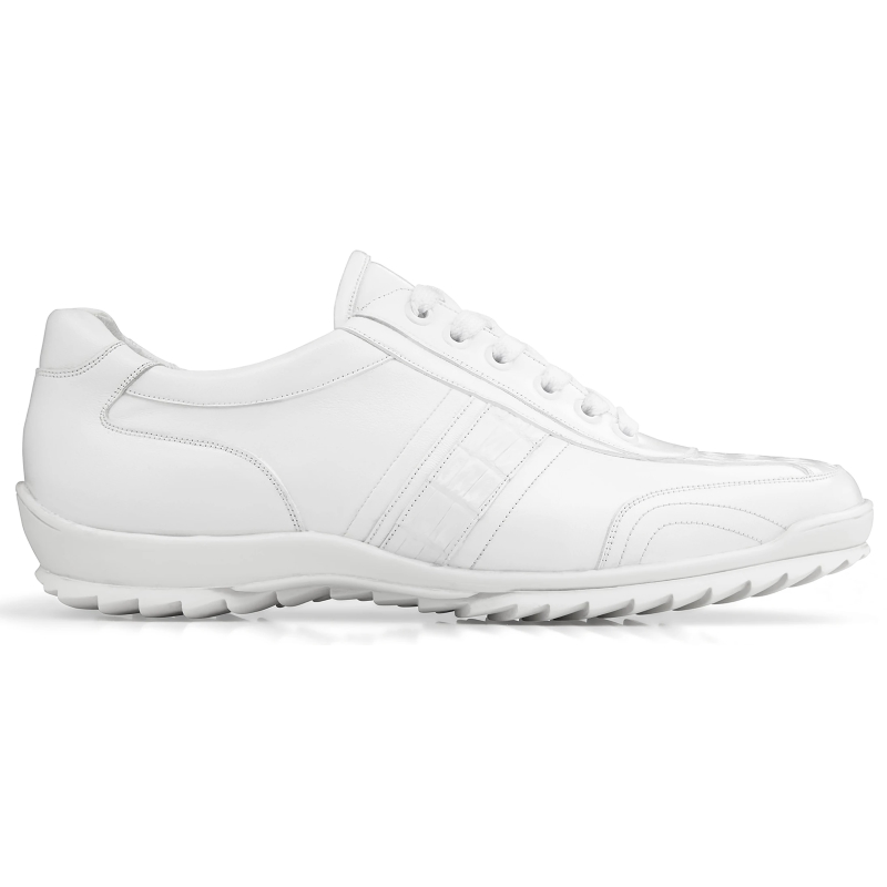 Belvedere Orfeo Caiman & Calf Sneakers White Image