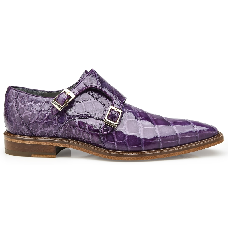 Belvedere Oscar Alligator Shoes Lavender Image