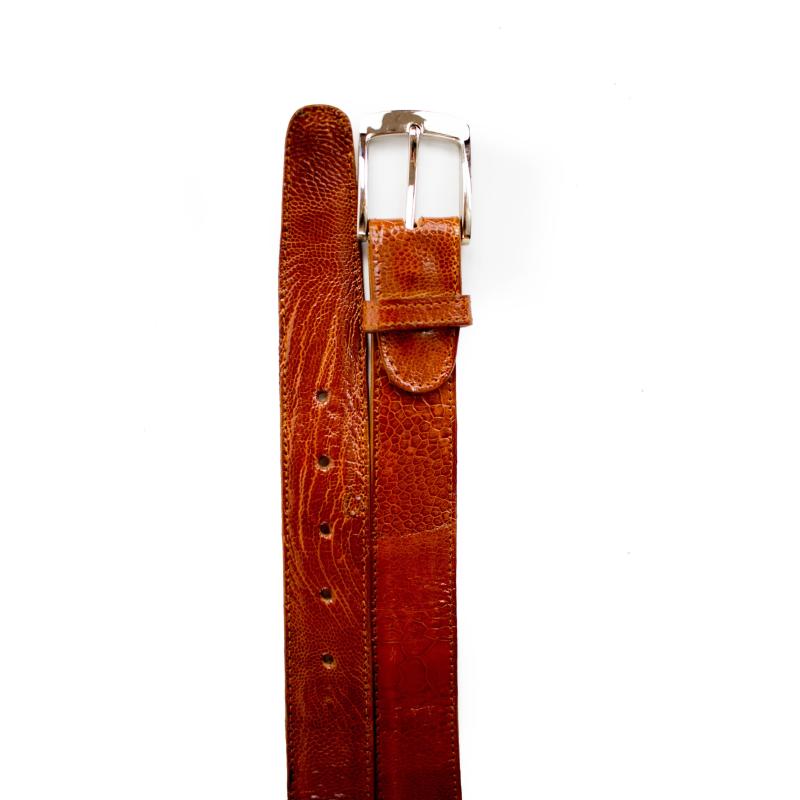 Belvedere Ostrich Leg Belt Burned Amber Image