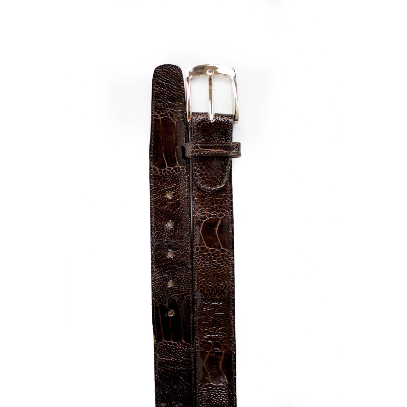 Belvedere Ostrich Leg Belt Brown Image