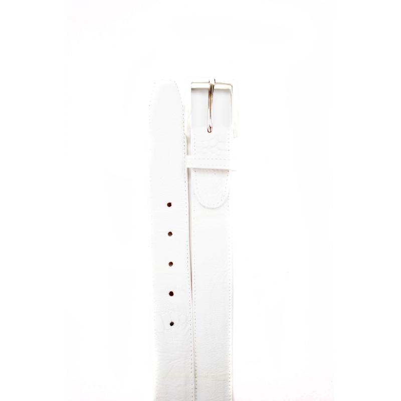 Belvedere Ostrich Leg Belt White Image