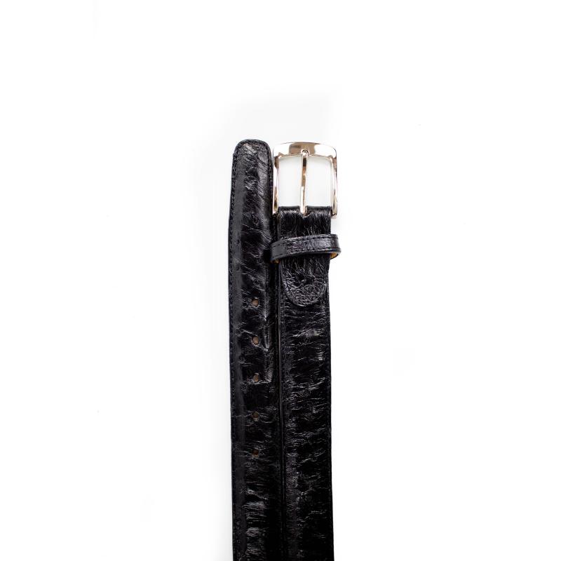 Belvedere Ostrich Quill Belt Black Image