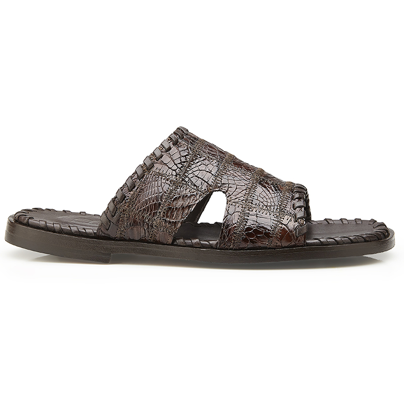 Belvedere Palma Crocodile Patchwork Sandal Brown Image