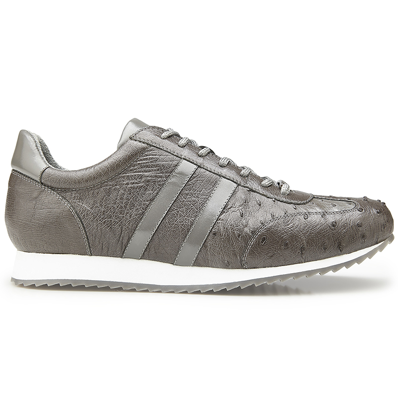 Belvedere Parker Leather Sneaker Gray Image