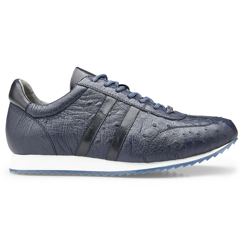 Belvedere Parker Leather Sneaker Navy Blue Image