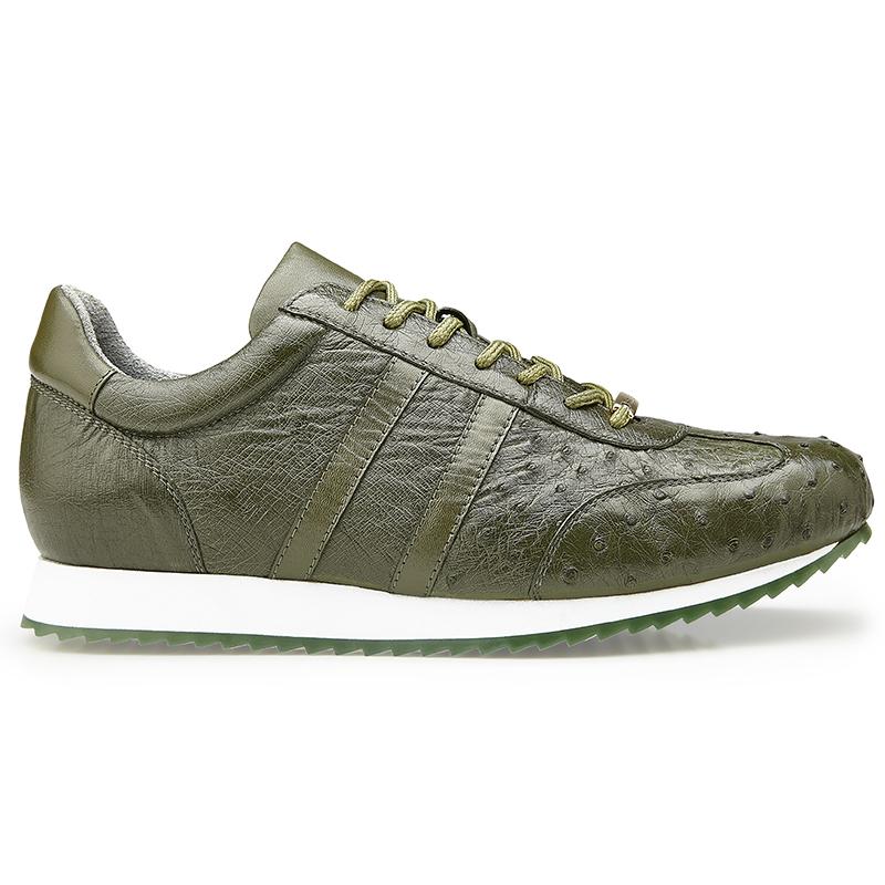 Belvedere Parker Leather Sneaker Olive Image