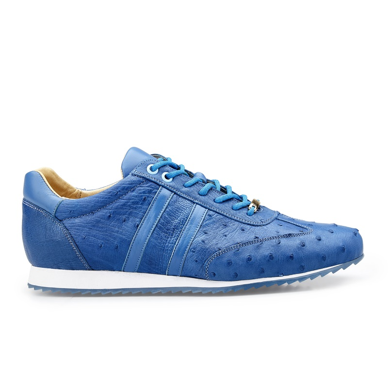 Belvedere Parker Ostrich Quill Sneakers Baby Blue Image