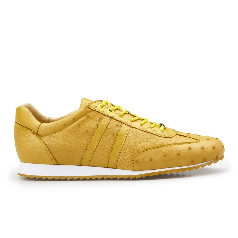 Belvedere Parker Ostrich Quill Sneakers Buttercup Image