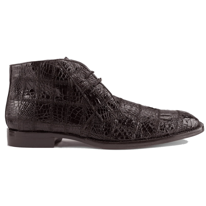 Belvedere Racer Patchwork Caiman Boots Chocolate Image