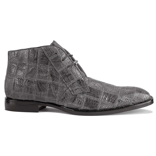 Belvedere Racer Patchwork Caiman Boots Gray Image
