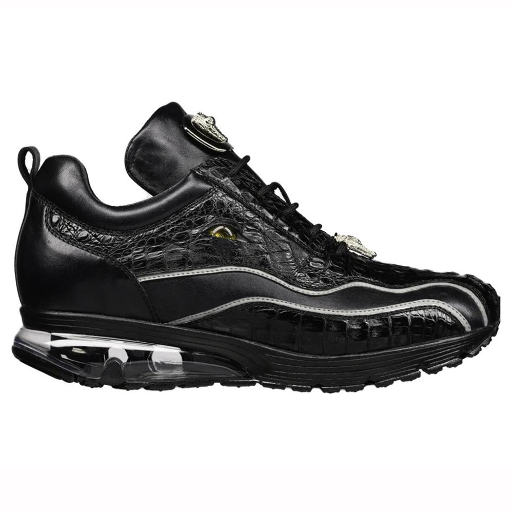 Belvedere Rexy Hornback Crocodile and Calfskin Sneakers Black Image