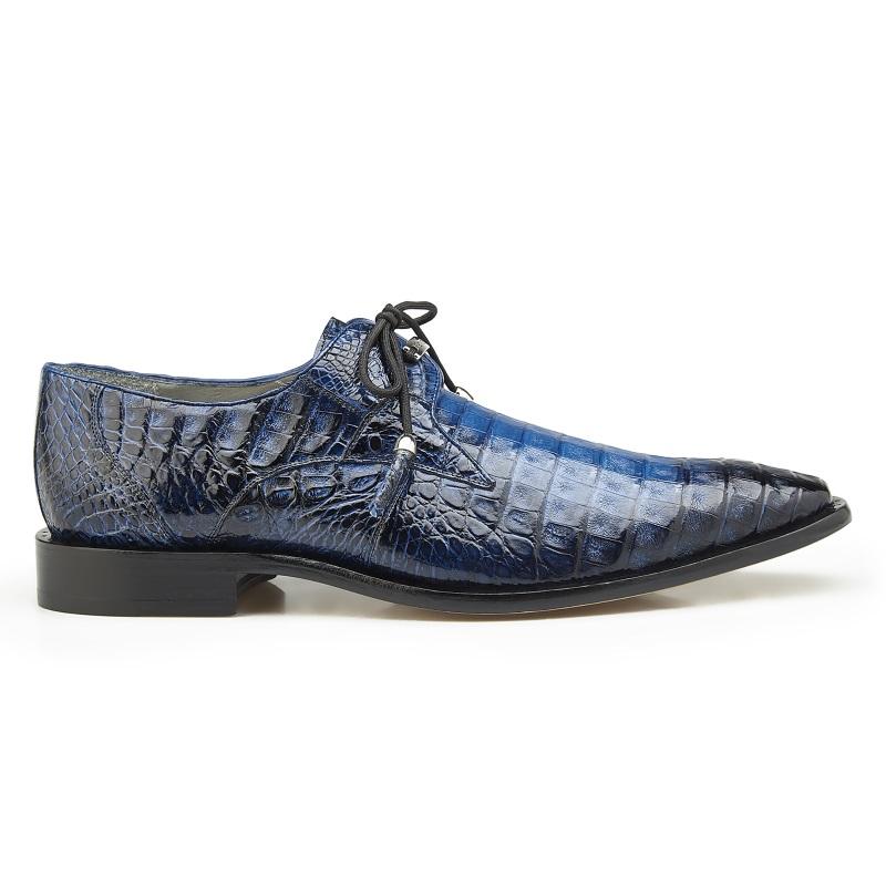 Belvedere Rome Crocodile Shoes Antique Ocean Blue Image