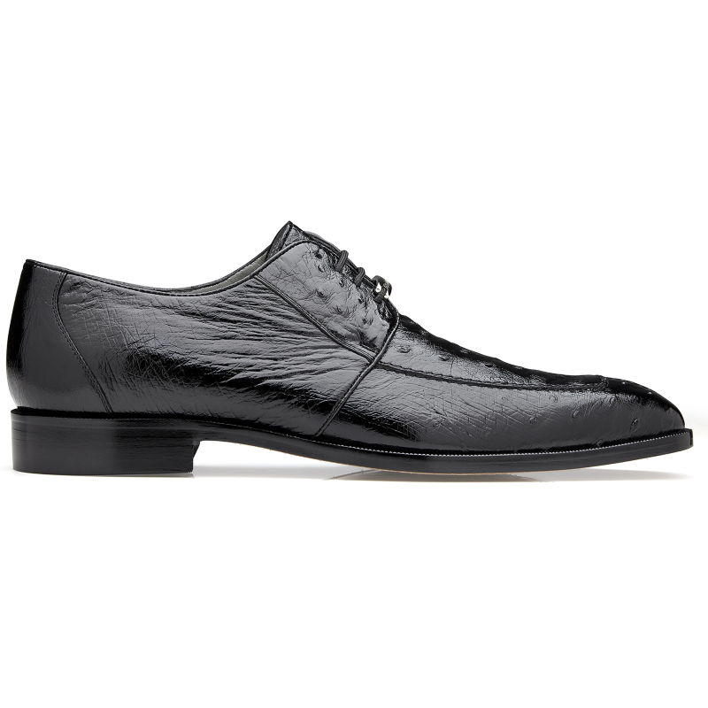 Belvedere Rovigo Ostrich Dress Shoes Black Image