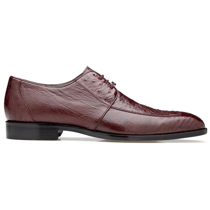 Belvedere Rovigo Ostrich Dress Shoes Burgundy Image