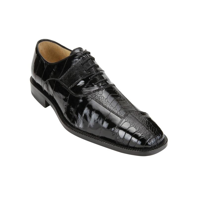 Belvedere Mare Ostrich/Eel Shoes Black Image