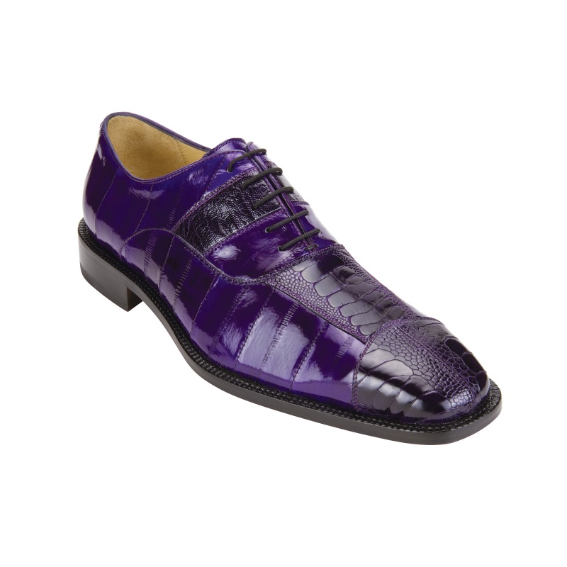 Belvedere Mare Ostrich/Eel Shoes Purple Image