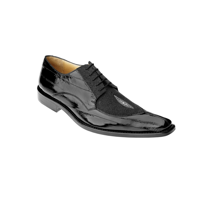 Belvedere Milan Eel/Stringray Shoes Black Image