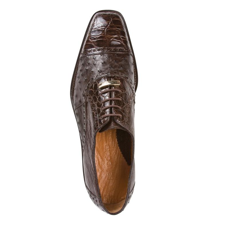 Belvedere Onesto II Ostrich/Crocodile Shoes Brown Image