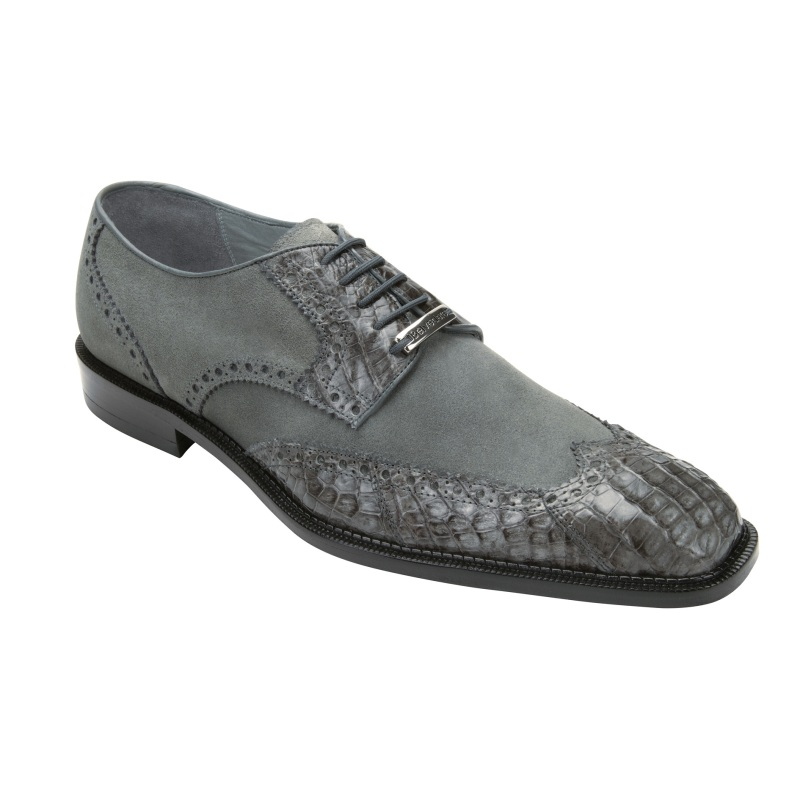 Belvedere Pergola Crocodile/Suede Shoes Gray Image