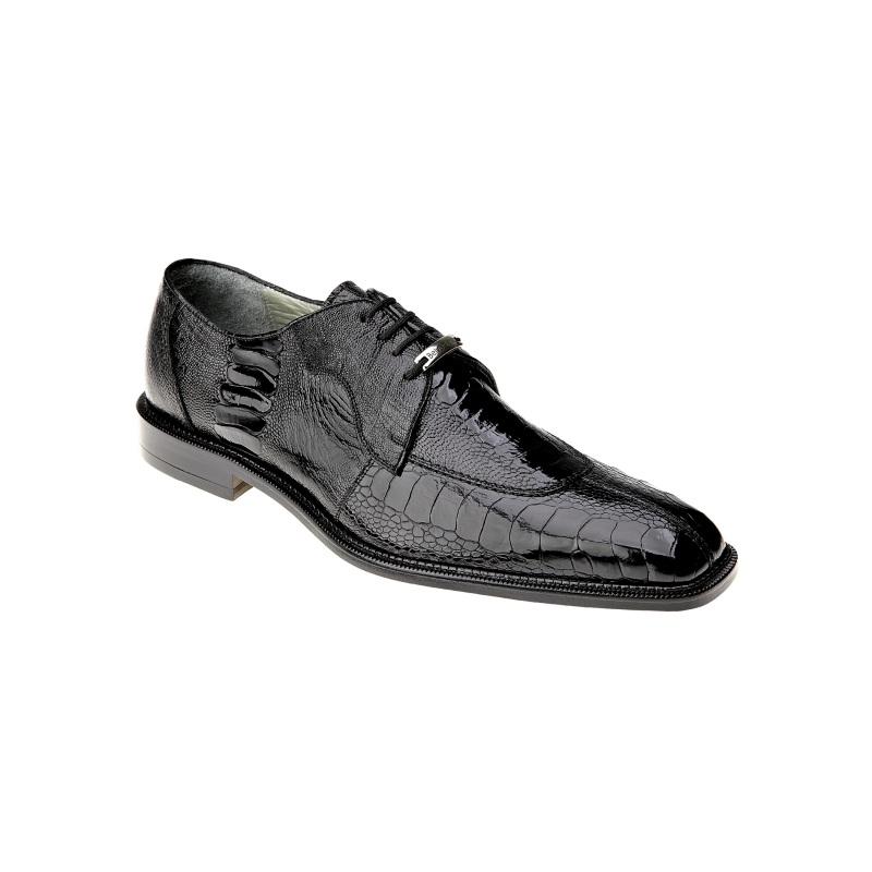 Belvedere Siena Ostrich Lace Up Shoes Black Image