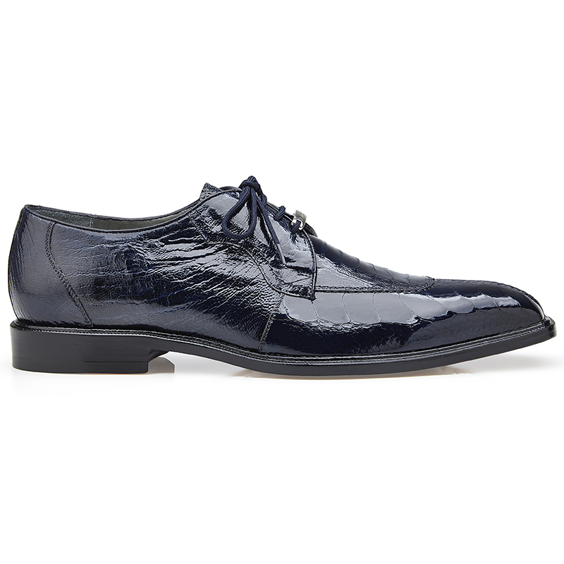 Belvedere Siena Ostrich Lace Up Shoes Navy Image