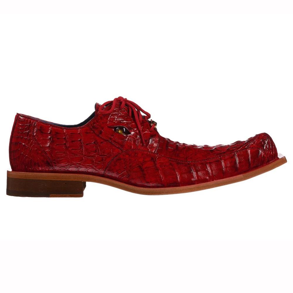 Belvedere Simon Caiman Crocodile Shoes Antique Cherry Image