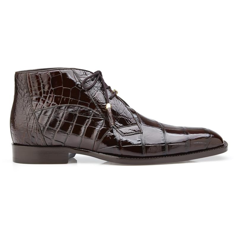 Belvedere Stefano Alligator Chukka Boots Chocolate Image