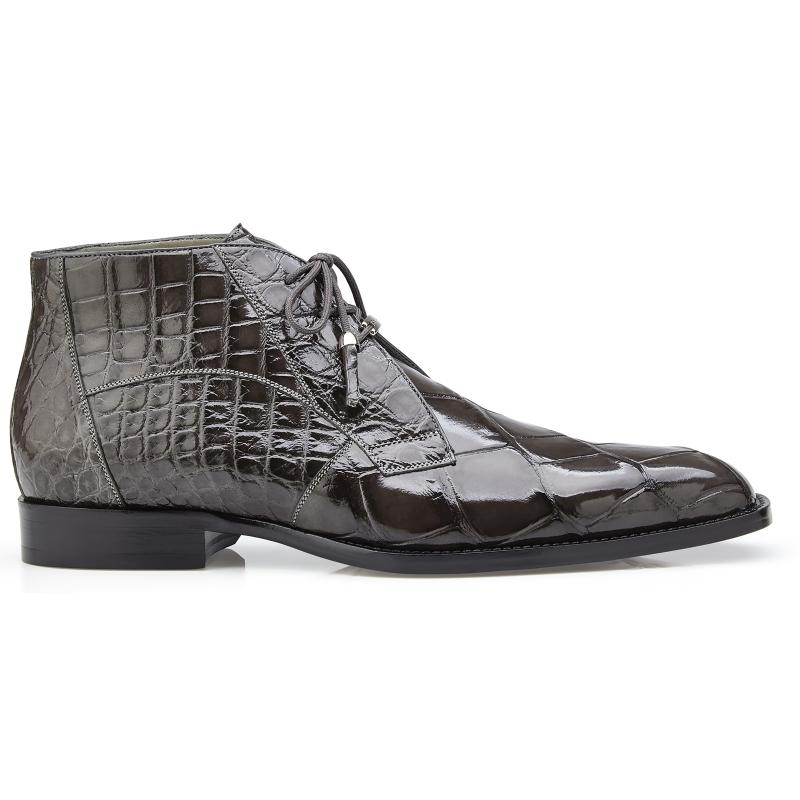 Belvedere Stefano Alligator Chukka Boots Gray Image