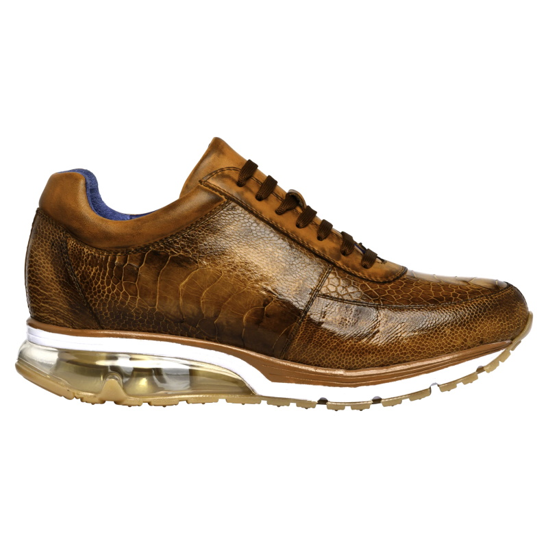 Belvedere Todd Ostrich Leg Sneakers Antique Brandy Image