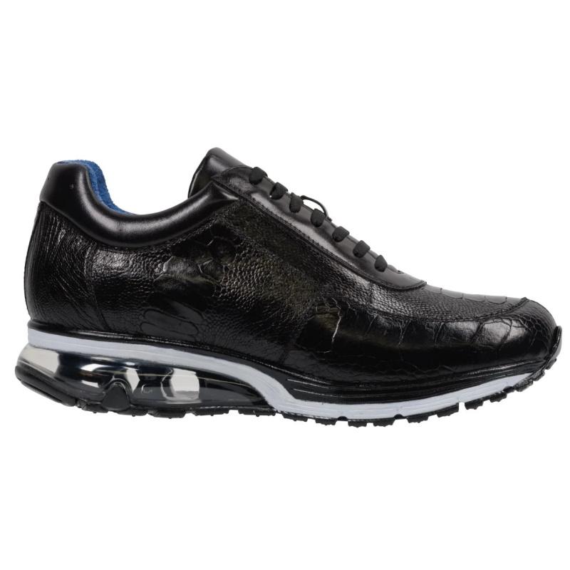 Belvedere Todd Ostrich Leg Sneakers Black Image