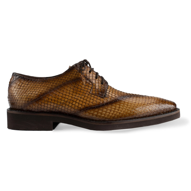 Belvedere Tony Snake Skin Shoes Antique Almond Image