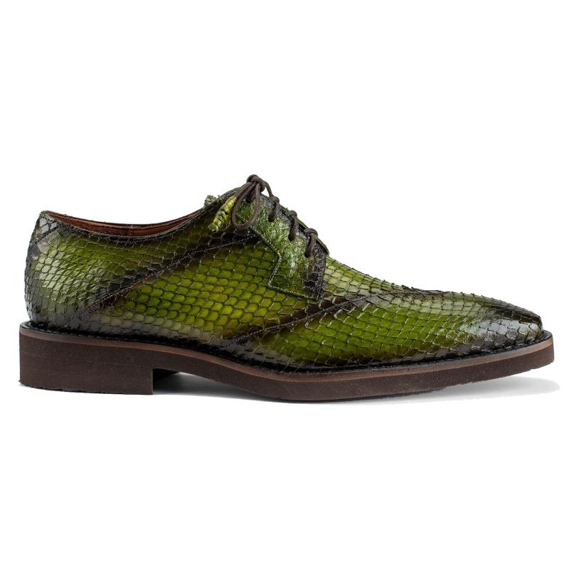 Belvedere Tony Snake Skin Shoes Antique Emerald Image