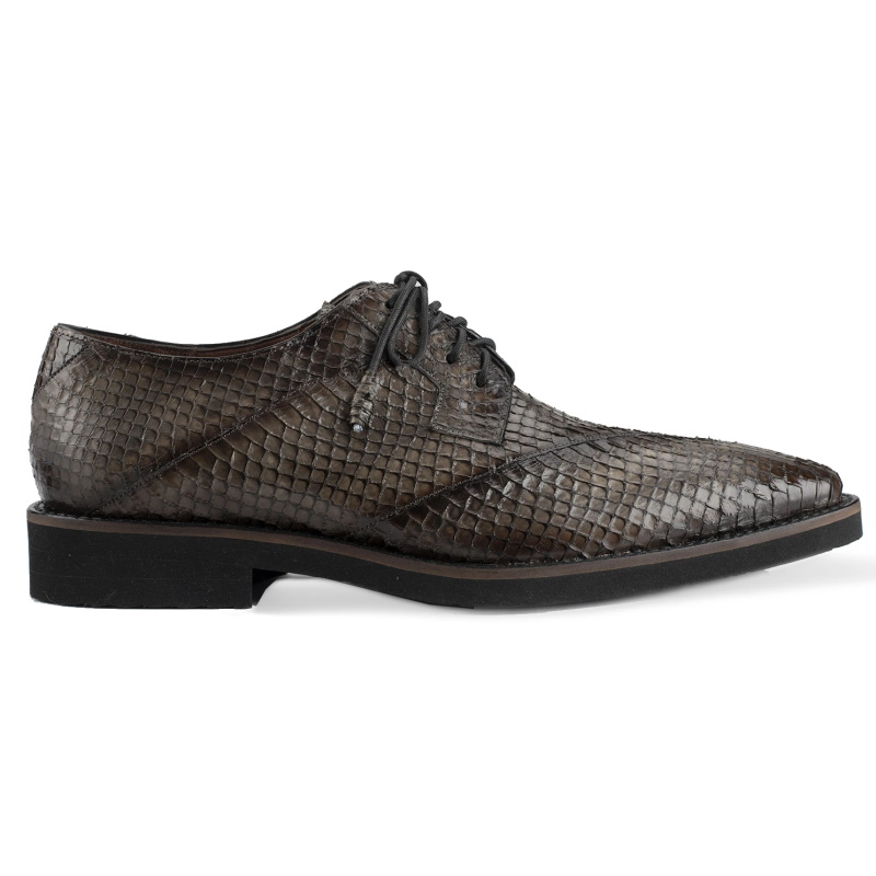 Belvedere Tony Snake Skin Shoes Antique Gray Image