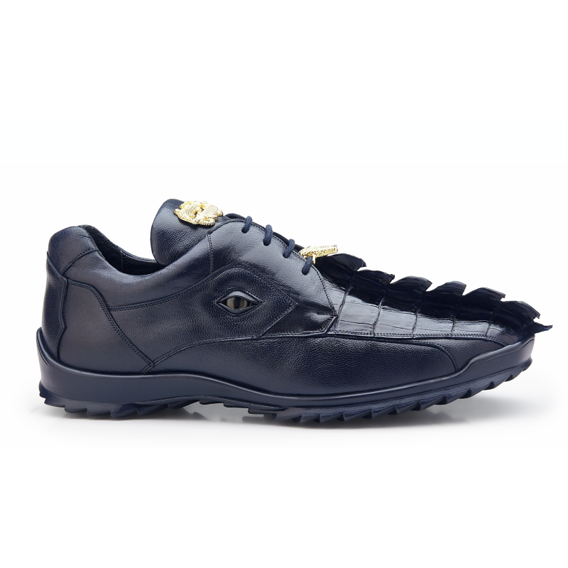 Belvedere Vasco Hornback & Calfskin Sneakers Night Blue Image