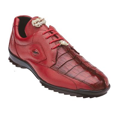 Belvedere Vasco Hornback & Calfskin Sneakers Red Image