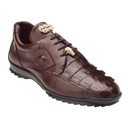 Belvedere Vasco Hornback & Calfskin Sneakers Tabac Image