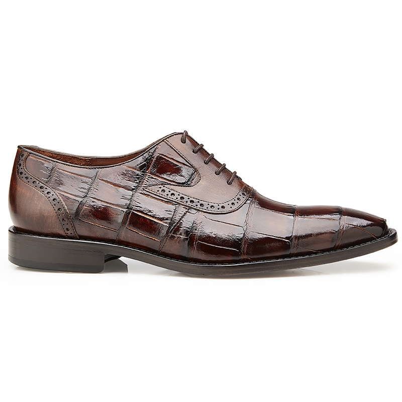 Belvedere Walter Alligator & Calf Oxfords Tobacco Image