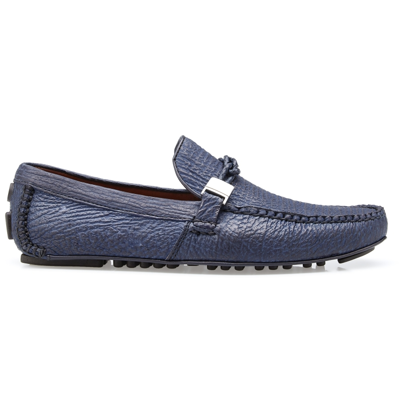 Belvedere Zante Shark Driving Loafers Navy Blue Image