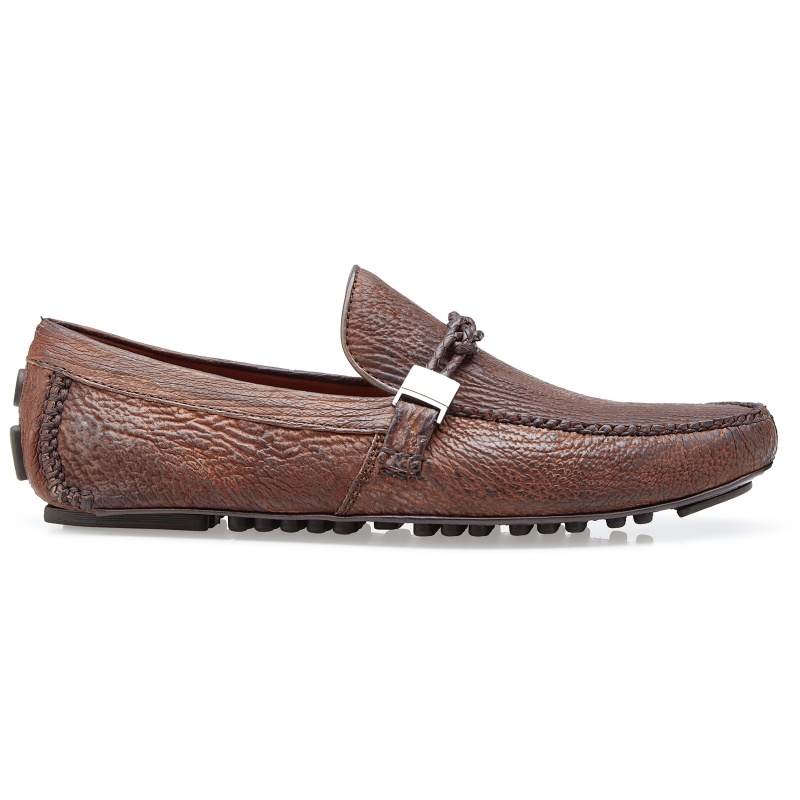 Belvedere Zante Shark Driving Loafers Tobacco Image