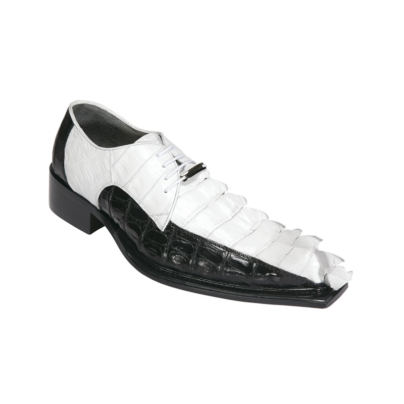 belvedere zeno hornback shoes white black