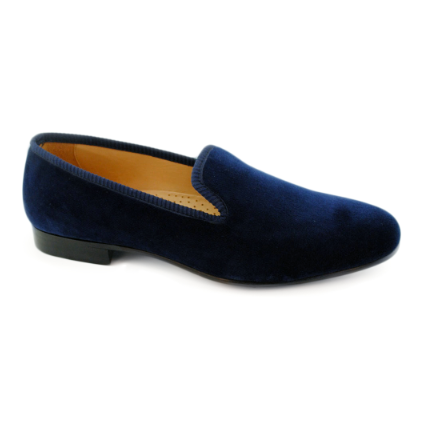 Baker Benjes Simpson Velvet Shoes Blue Image