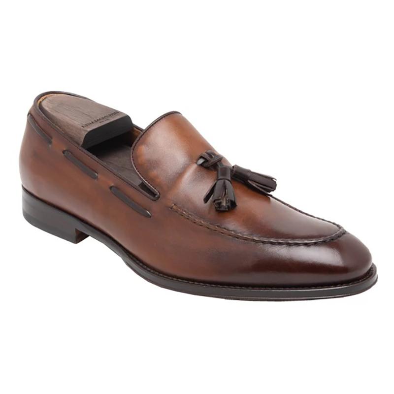 Bruno Magli Alfio Leather Tassel Loafer Cognac Image
