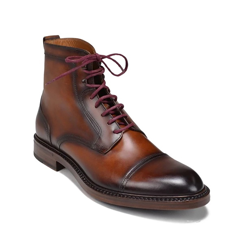 Bruno Magli Antonio Leather Boots Brown Image