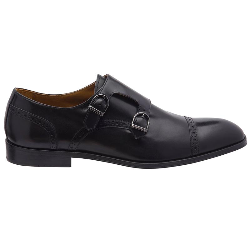 Bruno Magli Anzio Monk Strap Shoes Black Image