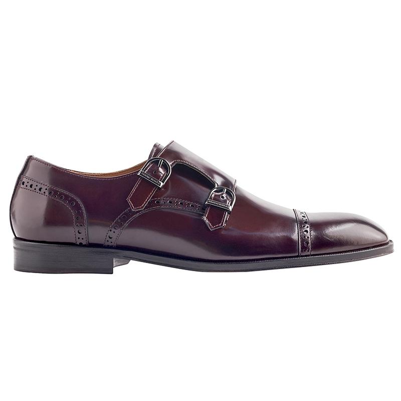 Bruno Magli Anzio Monk Strap Shoes Bordo Image