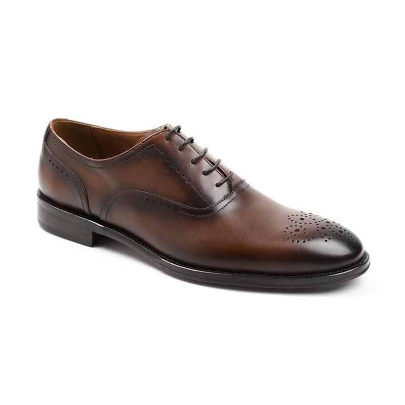 Bruno Magli Arno Plain Toe Bal Oxfords Cognac Image